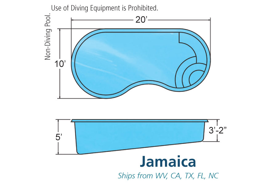 Singleton 39 s elite pools spas fiberglass and vinyl for Pool shapes and dimensions